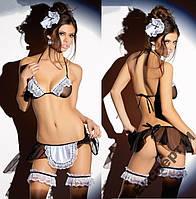 Сексуальный костюм горничной  - мини