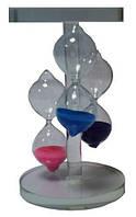 Часы песочные из стекла, сувенирные 80х125х80