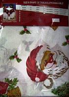 Скатерть на стол, новый год Дед Мороз 120х160