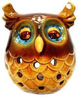Подсвечник сова из керамики 90х100х90