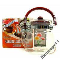 Заварник для чая из термостойкого стекла 1,2 литра