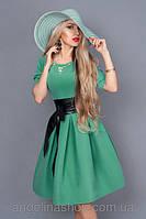 Элегантное женское платье, цвета мяты.Размеры: 46-52.