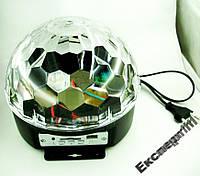 Диско шар светомузыка игра с флешки, SD, USB, MP3