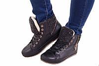 Удобные ботинки женские зимние на меху.
