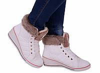 Ботинки женские зимние спортивные белые