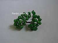 Искусственные засахаренные ягоды для декора ярко зеленые d=1,2см (1 упаковка - 40 ягодок)
