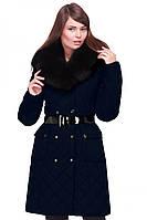 Стеганое женское зимнее пальто Айлин с капюшоном 44-56 рр