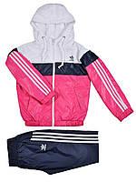 Спортивный костюм на девочек, плащевка, размер 34