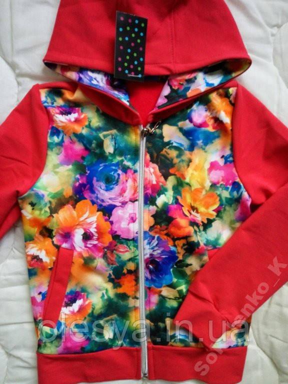 Детский спортивный костюм на девочек 11 л Цветы