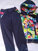 Детский спортивный костюм на девочек 7 лет Цветы