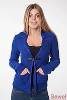Женская модная вязаная кофта с V-образным вырезом