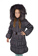 Пальто девочки на пуху Kids R&M 6-10 лет