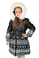 Теплое пальто девочки зима Донило 6-11 лет