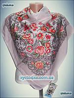 Шерстяной платок Фауст розовый, осень 2016