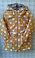 Детская куртка парка для девочек горох 92-116 БАРДО КРАСНАЯ