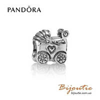 Pandora Шарм ДЕТСКАЯ КОЛЯСКА #790346 серебро 925 Пандора оригинал