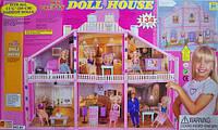 Домик 97, Кукольный домик Doll House134 дет., 2-х этажный, в кор. 107*28*84см