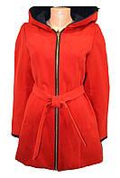 Пальто женское с поясом, фото 1
