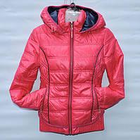 Демисезонна  куртка  для дівчинки 6 -14 років резинка  малинова