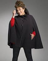 Кашемировое пальто-пончо на пуговицах