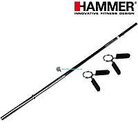 Гриф прямой для штанги с замками HAMMER Sport 180 см O30 4607