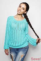 Красивый ажурный легкий женский свитерок | Осень-Весна
