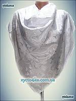 Однотонный платок белый принт 2016