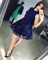 """Роскошное, вечернее платье """"Комбинированное, с пышной, красивой юбкой"""""""