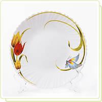 "Тарелка O 25см ""Тюльпан"" стеклокерамика MR-31049-04"