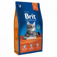 Brit Premium Cat Indoor 8кг-корм для домашних кошек