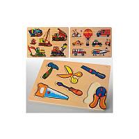 Деревянная рамка-вкладыш (Инструменты, транспорт, строительство)