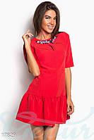 Ослепительное коктейльное платье. Цвет красный.