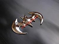 Наклейка 3D Бетмен металл  #020211