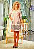 Батальное платье с печатным рисунком
