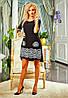 Стильное черное платье модного фасона