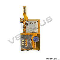 Шлейф Sony Ericsson K770 / T650, с разъемом на карту памяти, с разъемом на sim карту