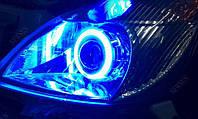Ангельские Глазки CCFL 75мм синие на Daewoo, Opel, Skoda, VW, ВАЗ