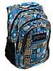 Городской нейлоновый рюкзак для парней 28 л. Jansport 3333-11 3d синий/принт