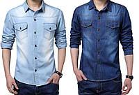 Мужская рубашка джинс РМ5911
