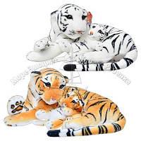 Мягкая плюшевая интерьерная игрушка Тигр с тигренком Metr+ MP 0308