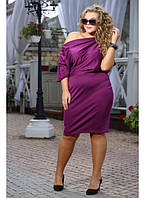 Женское платье Гармония цвет фуксия до 72 размера