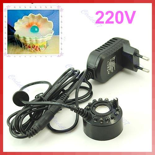 Комплект ультразвуковой генератор тумана LED с БП