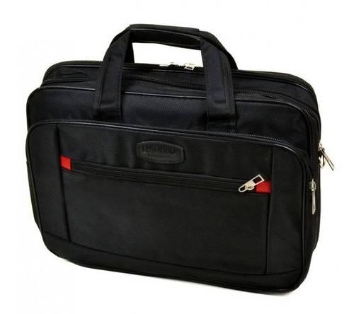 """Надежная мужская сумка для ноутбука 15"""", полиэстер dr.Bond 022 black черный"""