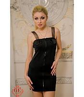 Платье-мини с лаковыми карманами