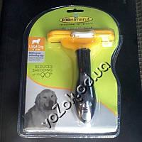 Фурминатор для больших собак с длинной шерстью FURminator Long Hair Large Dog deShedding 10см c кнопкой