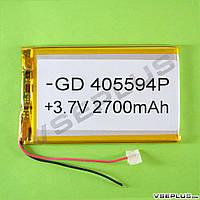 Аккумулятор к планшету, 2700 mAh, 4,0 х 55 х 94 мм.