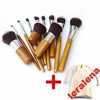 Набор кистей 11 шт , кисти для макияжа в мешочке