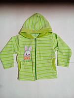 Детская велюровая кофта с капюшоном на молнии.цвета в ассортименте