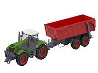 Трактор на радиоуправлении 1:28 Farm Tractor с прицепом