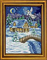"""Схема для вышивания бисером на атласе """"В Рождество всегда происходят чудеса"""" АЕ-394"""